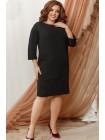 Однотонное прямое платье Манго